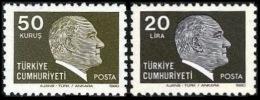 TURKEY 1980 (**) - Mi. 2508-09, ATATURK Regular Issue Stamps - 1921-... République
