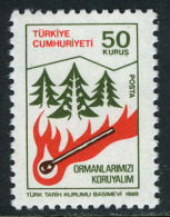 TURKEY 1980 (**) - Mi. 2517, Regular Issue With The Subject Of Forest - 1921-... République