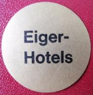 HOTEL MISC EIGER GRINDELWALD KUR BAD DEUTSCHLAND GERMANY MINI TAG DECAL STICKER LUGGAGE LABEL ETIQUETTE AUFKLEBER - Etiketten Van Hotels