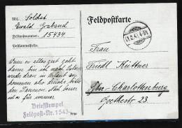 """DR- Feldpostkarte  """"stummer Stempel """" ( Bc8757 ) Siehe Scan ! - Deutschland"""