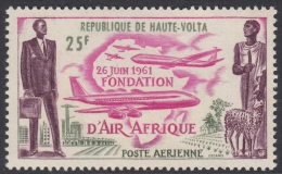Upper Volta 1962 Airline Air Afrique. Mi 98 MNH - Opper-Volta (1958-1984)