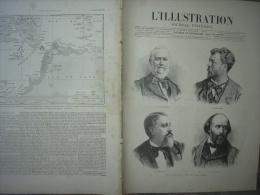 L'ILLUSTRATION 2130 CATACLYSME JAVA/ PONT DOUARNENEZ/ HENRI MARTIN / ULYSSE BUTIN/ LENORMANT 22 Décembre 1883 - 1850 - 1899