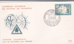 Belgium 1963 European Transport Ministers Conference FDC - FDC