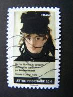 FRANCE OBLITERE 2012 N° 685  EDOUARD MANET SERIE DU CARNET PORTRAITS DE FEMMES DANS LA PEINTURE AUTOCOLLANT ADHESIF - France