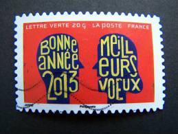 FRANCE OBLITERE 2012 N° 768  BONNE ANNEE SERIE MEILLEURS VOEUX AUTOCOLLANT ADHESIF - France