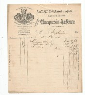 Facture , Distillerie Du DRAGON , Paris , Malakoff , CLACQUESIN-LEFEVRE , 1904 - France
