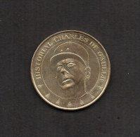 Medaille Touristique. Monnaie De Paris : Historial Charles De Gaulle .2012. - 2012