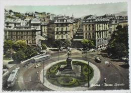 GENOVA - Piazza Corvetto - 1955 - Genova (Genoa)
