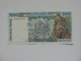 5000 Cinq Mille Francs  - SENEGAL - Banque Centrale Des états De L´Afrique De L´ouest  **** EN ACHAT IMMEDIAT **** - Sénégal