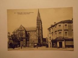 Carte Postale - MOULINS (03) - Place Achille Roche Et Eglise Du Sacré Coeur (351/1000) - Moulins