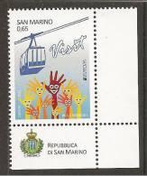 """SAN MARINO  -  EUROPA 2012 -TEMA ANUAL """" VISIT SAN MARINO """".- SERIE De 1 V. - DENTADO - Europa-CEPT"""