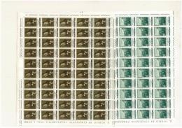 CITTA´ DEL VATICANO   - ANNO 1965 - SAN BENEDETTO PATRONO D´EUROPA  - 2 VALORI FOGLI DA  50  - NUOVI ** MNH - Vatican