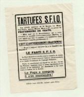 58Bcl  Propagande Politique Rares Affichettes Affiche Tartufes S.F.I.O. SFIO Scandale Politico Maçonnique Chautemps - Posters