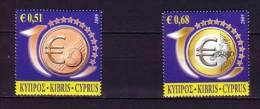 2009 chypre neuf ** n� 1160/61 pi�ce de monnaie : euro