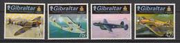 2013 gibraltar neuf ** n� 1526/29 avion militaire