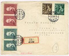 Allemagne Germany Grossdeutches Reich Devant Lettre Occpuation Prague Prag Praha Recommande 1944 Mahren Tchecosolovaquie - Germany