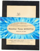Faire-part De Décès Mr Victor RENOTTE, Marchand De Porcs VILLERS - L' EVÊQUE 1910 ( B174) - Esquela