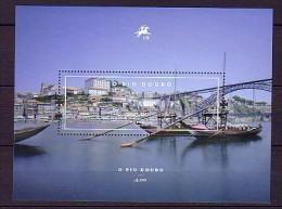 2012 portugal neuf ** bloc n� 341 transport : bateau : pont : fleuve le douro � porto