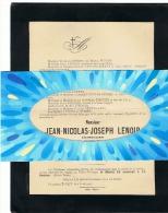Faire-part De Décès Mr Jean LENOIR, Pharmacien Et Bourgmestre De VILLERS - L'EVËQUE 1915 ( B174) - Esquela