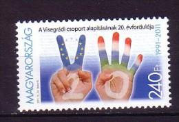 2011 hongrie neuf ** n� 4427 drapeau : mains