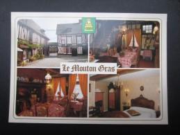 CP FRANCE (M1519) AUMALE 76390 (2 Vues) AUBERGE DU MOUTON GRAS - Josette Et Jean Gauthier - Hotels & Restaurants