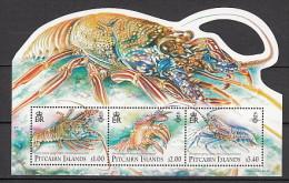 2013 pitcairn neuf ** bloc n� 59 faune marine : crustac� : homard : langouste