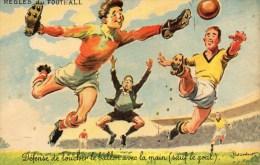 CPA REGLES DU FOOTBALL  A38  ECRITE TIMBRER - Fussball