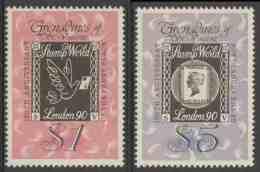 "Grenadines Of St. Vincent 1990 Mi 700 /1 ** ""Stamp World London 90"" Int. Stamp Exh. + 150th Ann. Penny Black - Esposizioni Filateliche"
