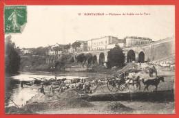 CPA Montauban - Pêcheurs De Sable Sur Le Tarn - Montauban
