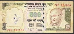 INDIA INDE P99e3 500 RUPEES 2009 #7CS  LETTER  L   FINE Writings - India