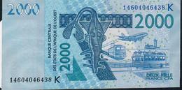 W.A.S. SENEGAL P716Kl ?  2000  FRANCS  2003  DATED (20)14   AUNC. - Sénégal