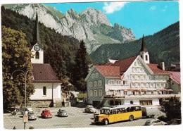 Obertoggenburg: SAURER POSTAUTO & TRAILER, 5x VW KÄFER/COX 1200 - Hotel Sonne  - Schweiz / CH - Turismo