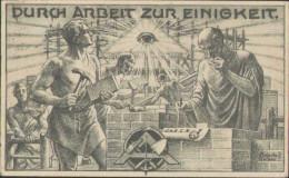 Durch Arbeit Zur Einigkeit, Deutsches Reich, 1928, Propaganda, Künstler-Postkarte W. Schultz Hanay, Politik - Eventi