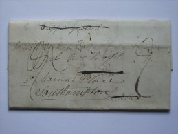 GB 1832 ENTIRE BATH TO SOUTHAMPTON CODED AND DOUBLE CIRCLE MARKS - ...-1840 Precursores