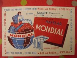 Buvard matelas mondial. vers 1950