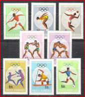 Romania 1968 Mexico Olympic Games Olympics Sports Soccer Football Stamps MNH Michel 2697-2704 Sc# 2030-2037 - 1948-.... Republics