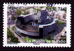 """""""la Maison De La Radio"""" Issu Du Bloc """"les Années 60"""" Oblitéré Cachet Rond TTB - France"""