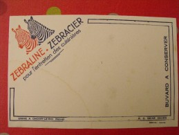 Buvard Zebralin Zebracier. Entretien Des Cuisinières. Zèbre. Choisy Le Roi (seine). Vers 1950 - Buvards, Protège-cahiers Illustrés
