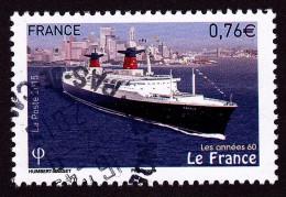 """""""le France"""" Issu Du Bloc """"les Années 60"""" Oblitéré Cachet Rond TTB - France"""