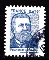 """JEAN JAURES Autoadhésif Issu Du Carnet """"LES BEAUX TIMBRES S´EXPOSENT AU SALON"""" Cachet Rond - Usati"""