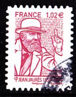 """JEAN JAURES Autoadhésif Issu Du Carnet """"LES BEAUX TIMBRES S´EXPOSENT AU SALON"""" Cachet Rond - Oblitérés"""