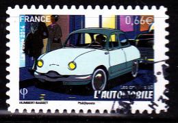 """L'AUTOMOBILE Autoadhésif Issu Du Carnet """"LES BEAUX TIMBRES S´EXPOSENT AU SALON"""" Cachet Rond - France"""