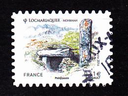 """LOCMARIAQUIER Autoadhésif Issu Du Carnet """"LES BEAUX TIMBRES S´EXPOSENT AU SALON"""" Cachet Rond - France"""