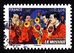 """LA MUSIQUE Autoadhésif Issu Du Carnet """"LES BEAUX TIMBRES S´EXPOSENT AU SALON"""" Cachet Rond - 2010-.. Matasellados"""