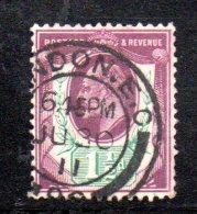 Y306 - GRAN BRETAGNA 1902 , Edoardo VII Giubileo N. 108 Usato - 1902-1951 (Re)