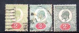 Y307 - GRAN BRETAGNA 1902 , Edoardo VII Giubileo N. 109 Usato : Tre Nuance - Usati