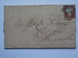 GB 1849 ENTIRE LOFTHOUSE TO KNARESBOROUGH WITH ADDITIONAL LEEDS MARKS - 1840-1901 (Victoria)
