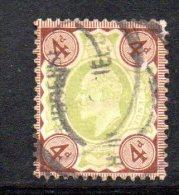 Y311 - GRAN BRETAGNA 1902 , Edoardo VII Giubileo N. 112 Usato . - Usati