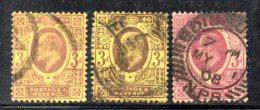 Y312 - GRAN BRETAGNA 1902 , Edoardo VII Giubileo N. 111 Usato : Tre Nuance - Usati