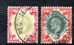 Y316 - GRAN BRETAGNA 1902 , Edoardo VII Giubileo N. 117 Usato : Due Nuance - Usati